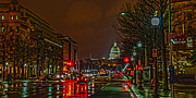 Cities Digital Art Originals - D.C. Traffic by Chagrin Falls Photo