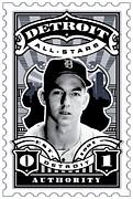 Dcla Al Kaline Detroit All-stars Finest Stamp Art Print by DCLA Los Angeles