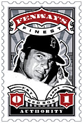 Mlb Art Posters - DCLA Carl Yastrzemski Fenways Finest Stamp Art Poster by DCLA Los Angeles