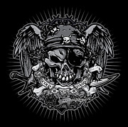 Cities Digital Art - DCLA Cold Dead Hand Pirate Gray by DCLA Los Angeles