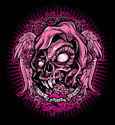 Los Angeles Digital Art Metal Prints - DCLA Cold Dead Hand Zombie Pink 3 Metal Print by DCLA Los Angeles