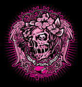 Cities Digital Art - DCLA Cold Dead Hand Zombie Pink by DCLA Los Angeles