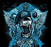 Dcla Designed Skull Combat Medic Print by DCLA Los Angeles