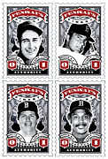 Boston Red Sox Poster Prints - DCLA Fenways Finest Combo Stamp Art Print by DCLA Los Angeles