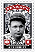 Red Sox Metal Prints - DCLA Jimmie Fox Fenways Finest Stamp Art Metal Print by DCLA Los Angeles
