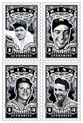Mickey Mantle Art - DCLA Kings Of New York Combo Stamp Artwork 1 by DCLA Los Angeles