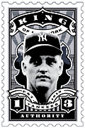 New York Yankees Digital Art Framed Prints - DCLA Roger Maris Kings Of New York Stamp Artwork Framed Print by DCLA Los Angeles