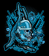 Greeting Cards Digital Art - DCLA Skull Centurion Molan Labe 2 by Dcla
