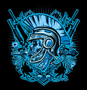 Soldiers Digital Art - DCLA Skull Centurion Molan Labe by DCLA Los Angeles
