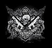 Greeting Digital Art - DCLA Skull Cold Dead Hand Gray by Dcla