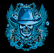 Cities Digital Art - DCLA Skull Cowboy Cold Dead Hand by Dcla