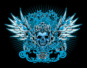 Cities Digital Art - DCLA Skull King by DCLA Los Angeles