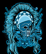 Greeting Cards Posters - DCLA Skull Molon Labe Centurion Poster by DCLA Los Angeles