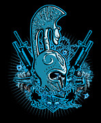 Cities Digital Art - DCLA Skull Spartan Marine Molan Labe 4 by Dcla