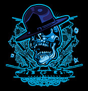 Cities Digital Art - DCLA Skull USMC Drill Sergeant by Dcla