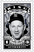 Joe Dimaggio Baseball Cards Art - DCLA Whitey Ford Kings Of New York Stamp Artwork by DCLA Los Angeles