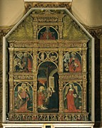 Christ Child Photo Prints - De Donati Aloisio, Polyptych, 1507 Print by Everett