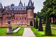 Garden Scene Photos - De Haar Castle 2. Utrecht. Netherlands by Jenny Rainbow