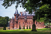 Garden Scene Photos - De Haar Castle 3. Utrecht. Netherlands by Jenny Rainbow