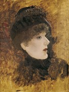 Portrait Of Woman Photo Framed Prints - De Nittis, Giuseppe 1846-1884. Portrait Framed Print by Everett