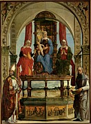 Mid-20th Framed Prints - De Roberti Ercole, Portuense Altarpiece Framed Print by Everett