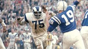 National Football League Framed Prints - Deacon Jones  Framed Print by Sanely Great