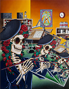 Skeleton Paintings - Dead Artist Society by Gary Kroman