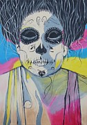 Dead People Paintings - Dead drag-queen Francesco by Pamela Gebler