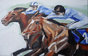 Horserace Paintings - Dead Head by Henry Beer