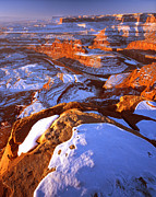 Point State Park Prints - Dead Horse Point in Winter Print by Ray Mathis