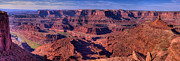 Point State Park Prints - Dead Horse Point Sunrise Print by Stephen Campbell