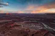Point Park Posters - Dead Horse Point Sunset Poster by Joseph Rossbach