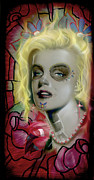 Marylin Paintings - Dead Monroe by Luis  Navarro