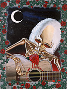 Skull Paintings - Dead Serenade by Gary Kroman