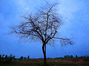 Fantasy Tree Mixed Media - Dead tree digital oil painting by Saurabh and Geetanjali Nande