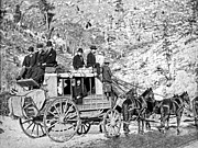 Deadwood Framed Prints - DEADWOOD STAGECOACH in WINTER 1889 Framed Print by Daniel Hagerman