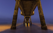 Port Kent Photos - Deal Pier At Night by David Attenborough