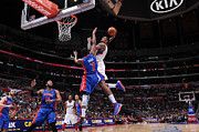 Dunk Photos - DeAndre Jordan Poster by Sanely Great