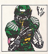 Ncaa Drawings Prints - DeAnthony Thomas Print by Jeremiah Colley