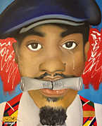 Rapper Paintings - Dear Hip Hop by Chelsea VanHook