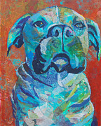 Boxer Dog Mixed Media - Dear Madeline by Robin Coats