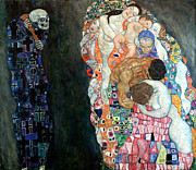 Klimt Digital Art Prints - Death and Life Print by Gustive Klimt