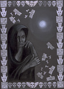 Goddess Birth Art Prints - Death Crone Print by Diana Perfect