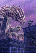 Fantasy Art - Death Dragon by Alan  Hawley