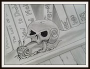 Snail Drawings Framed Prints - Death Head Snail Framed Print by Royce Tucker