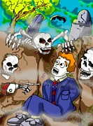 James Griffin Metal Prints - Death Laughs Metal Print by James Griffin
