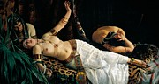 Death Of Cleopatra Print by Achilles Glisenti