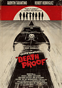 Tarantino Film Framed Prints - Death Proof Poster Framed Print by Sanely Great