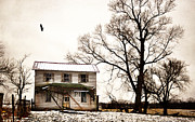 Abandoned Houses Photos - Death To A Farmhouse by Emily Stauring