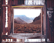 Old Cabins Framed Prints - Death Valley 1 Framed Print by Lydia Warner Miller